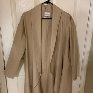 Urban Outfitters Beige Trench Coat (Brand New!)